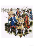 Seventy American Colonists Faced a Thousand British Regulars Giclee Print by Gerry Embleton