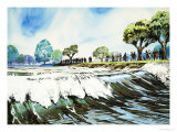 Famous Rivers - the Severn: The Severn Bore Giclee Print by Angus Mcbride