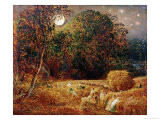 Harvest Moon Giclee Print by Samuel Palmer