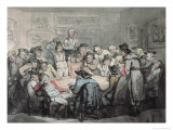 The Hazard Room Giclee Print by Thomas Rowlandson