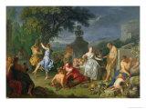 Bacchanal, 1719 Giclee Print by Michel-ange Houasse