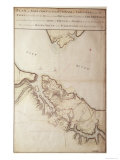 British Map of the Siege of Yorktown, 1781 Giclee Print by John Hills