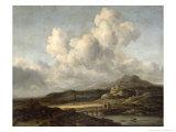 Sunny Landscape Giclee Print by Jacob Isaaksz. Or Isaacksz. Van Ruisdael