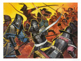 Unidentified Japanese Warriors in Battle Giclee Print by Angus Mcbride