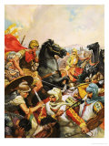 Alexander the Great Riding Bucephalus Giclee Print by James Edwin Mcconnell
