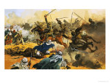 The 21st Lancers Lead the Battle Against the Arab Stronghold at Omdurman in 1897 Giclee Print by Ferdinando Tacconi