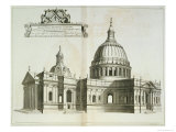 St. Paul's Cathedral, c.1700 Giclee Print by Robert Morden