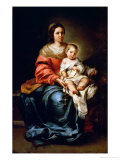 The Madonna of the Rosary Giclee Print by Bartolome Esteban Murillo