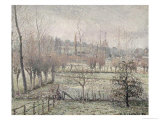 Snow Effect at Eragny, 1894 Giclee Print by Camille Pissarro