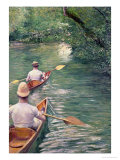 The Canoes, 1878 Giclee Print by Gustave Caillebotte