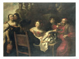 The Rich Man&#39;s Feast Giclee Print by Theodor Rombouts