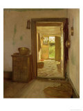Farmhouse Interior with an Open Door Giclée-Druck von Gustav Vermehren
