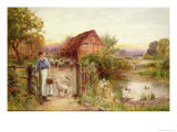 Bringing Home the Sheep Giclee Print by Ernest Walbourn