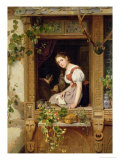 Dreaming on the Windowsill Giclee Print by August Friedrich Siegert