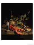 Still Life of a Lobster Giclee Print by Jakob Bogdani Or Bogdany