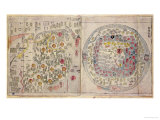 Sino Korean World Map, c.1800 Giclee Print by Korean Scroll