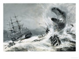 Was There Really a Mysterious Monster Terrorising the World's Oceans Giclee Print by Graham Coton