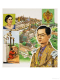 King Bhumipol Adulyadej, Ruler of Thailand Giclee Print by David Nicolle