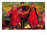 Russian Peasants Singing Giclee Print by Filipp Andreevic Maljavin