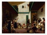 Jewish Wedding in Morocco, 1841 Reproduction procédé giclée par Eugene Delacroix