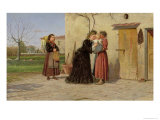 Visiting the Wet-Nurse Giclee Print by Silvestro Lega