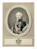 Portrait of Prince Kurakin, Engraved by Nikolai Ivanovich Utkin Giclee Print by J.b. Renu