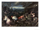 August, 1595-1600 Giclee Print by Leandro Da Ponte Bassano