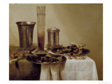 The Dessert, 1637 Giclee Print by Willem Claesz. Heda