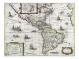 Map of the Americas, 1631 Giclee Print by Henricus Hondius