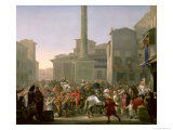 Carnival in Rome, c.1650-51 Giclee Print by Johannes Lingelbach