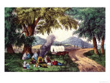 Halt by the Wayside Giclee Print by Currier & Ives