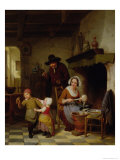 Pancake Day, 1845 Giclee Print by Basile De Loose