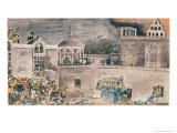 American Troops under General Doniphan Storm the Bishop's Palace in Monterrey, c.1846 Giclee Print by Private Samuel Chamberlain