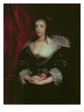 Queen Henrietta Maria Reproduction proc&#233;d&#233; gicl&#233;e par Sir Anthony Van Dyck