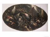 The Venetians Capturing Padua Giclée-tryk af Francesco Bassano