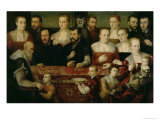 Portrait of a Large Family Reproduction procédé giclée par Cesare Vecellio