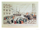 The Boston Tea Party, 1846 Giclee Print by  Currier & Ives