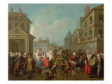 Street Carnival in Paris, 1757 Giclee Print by Etienne Jeaurat