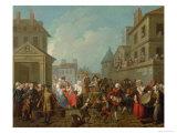 Street Carnival in Paris, 1757 Giclee Print by Etienne Jeaurat