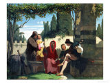 Florentine Troubadours in the 14th Century, 1860 Giclee Print by Vincenzo Cabianca