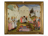 Burial of Ss. Cosimo and Damian Giclee Print by  Fra Angelico