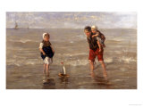 The Toy Boat Giclee Print by Jozef Israels