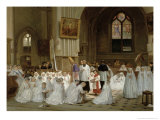 First Communion, 1867 Giclee Print by Theophile Emmanuel Duverger