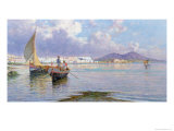 Naples, from Mergellina Giclee Print by Giuseppe Carelli