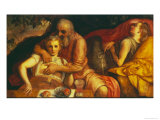 Lot and His Daughters, 1550S Reproduction proc&#233;d&#233; gicl&#233;e par Frans Floris