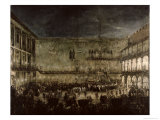 The Arrival of Princess Amelia of Saxony, in a Carriage, at the Doge's Palace Giclee Print by Antonio Stom
