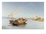 Feluccas on the Nile, 1879 Giclee Print by John Jnr. Varley