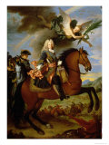 Equestrian Portrait of Philip V Giclee Print by Jean Ranc