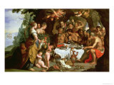 The Feast of Achelous, 1625-29 Giclee Print by Artus Wollfort