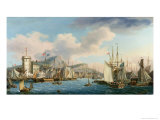 Leith Harbour, 1825 Giclee Print by John Thomas Serres